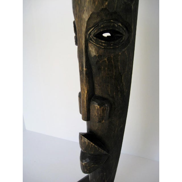 African Carved Wood Sculpture For Sale - Image 3 of 5