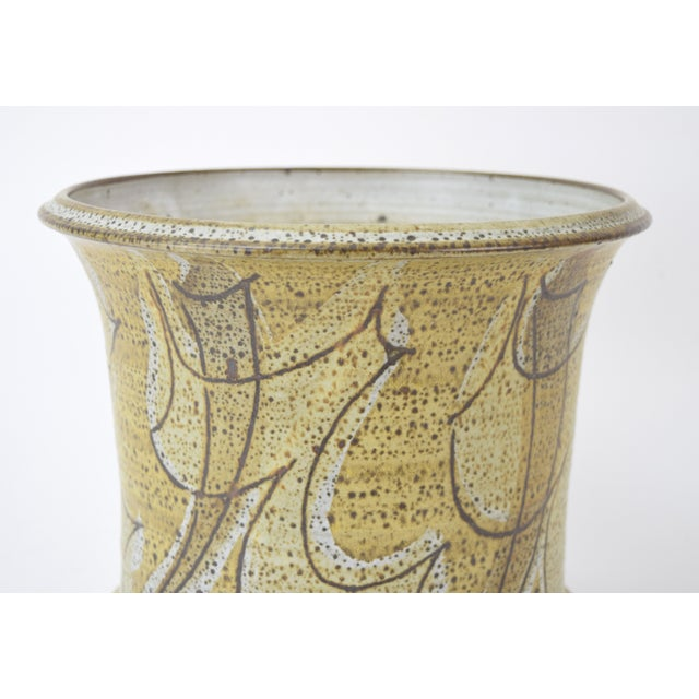 Vintage Alan Vigland Mid Century Modern Studio Pottery Vase For Sale - Image 4 of 11