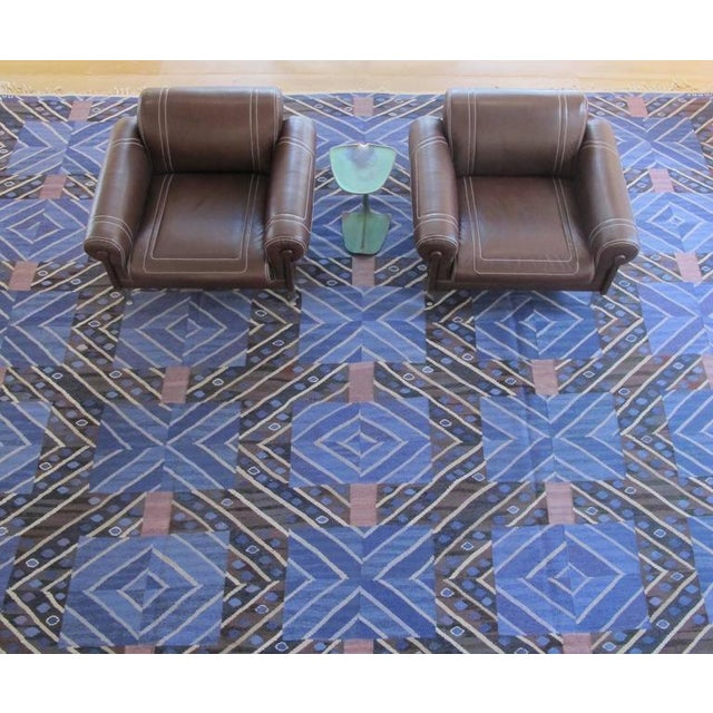 1950s Marta Maas-Fjetterstrom Flatwoven Carpet For Sale - Image 5 of 10
