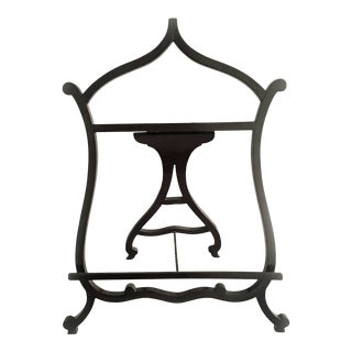 Lyre-Shaped Table Easel or Music Stand For Sale