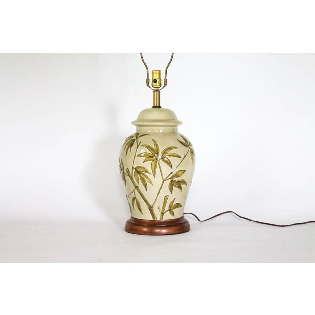 Asian Frederick Cooper Table Lamp W/ Bamboo Motif For Sale - Image 3 of 11