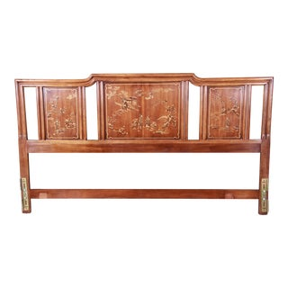 Drexel Heritage Hollywood Regency Chinoiserie King Size Headboard For Sale