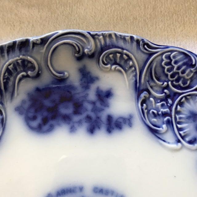 Flow Blue Tribley Semi-Porcelian Blarney Castle Plate For Sale In Sacramento - Image 6 of 10