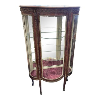Antique French Vitrine With Ormolou For Sale