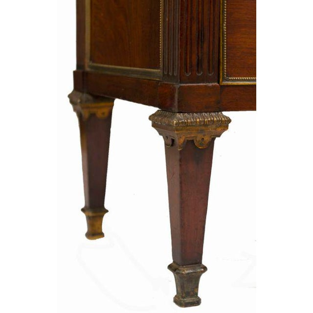 Mid 19th Century 19th Century Louis XVI Style Walnut Bookcase Commode For Sale - Image 5 of 8