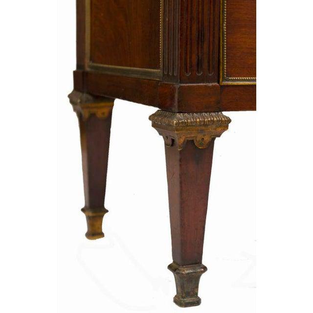 Louis XVI Style Walnut Bookcase Commode - Image 5 of 8