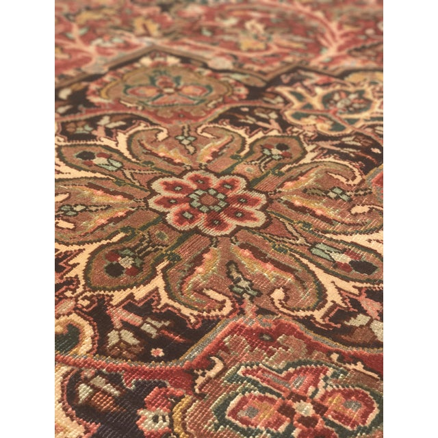 """Thick & Hearty Vintage Persian Ahar Area Rug - 7'3"""" x 10'5"""" - Image 10 of 11"""