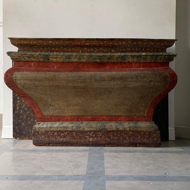 Antique Italian Faux Marble Specimen Altar For Sale In West Palm - Image 6 of 6