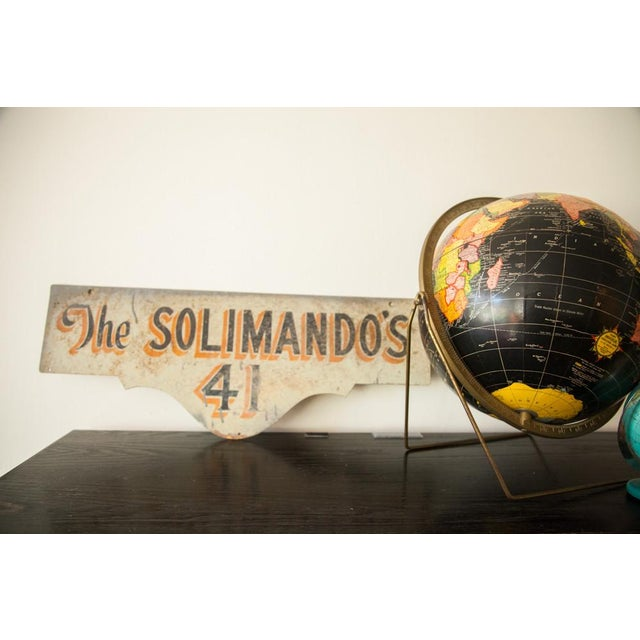 Vintage Deco Double Sided House Sign Solimando's - Image 3 of 7