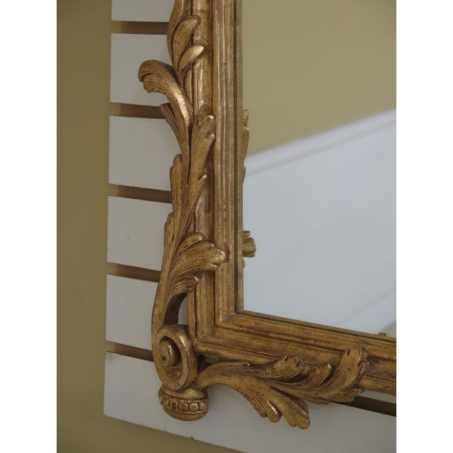 1990s Labarge Gold Gilt Mantle or Sideboard Horizontal Mirror For Sale In Philadelphia - Image 6 of 12