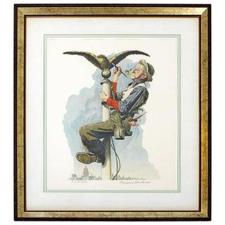 20th Century Framed Modern Illustration A.P. Litho Signed Norman Rockwell, 1928 For Sale