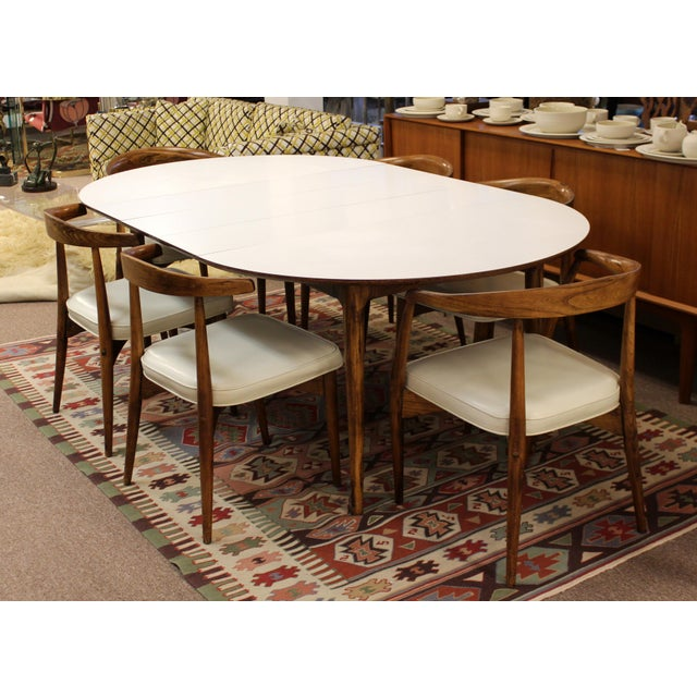 Mid Century Modern Lawrence Peabody Craft Assoc.Dining Table & 6 Side Chairs - Set of 7 For Sale - Image 13 of 13