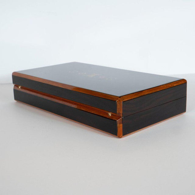 Modernist Rosewood and Cedar Monogrammed Humidor by Louis Vuitton For Sale In New York - Image 6 of 9