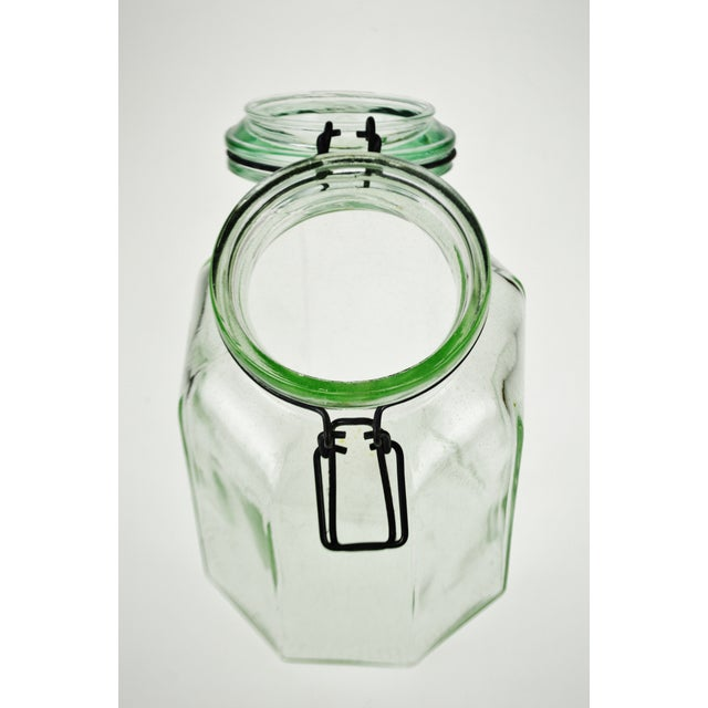 Vintage Tilt Top Wire Bale Storage Jar Made in Italy - Image 11 of 11