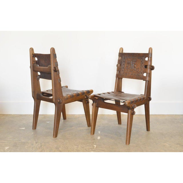 1960s Set of Six Ecuadorian Dining Chairs by Angel Pazmino, 1960's For Sale - Image 5 of 5