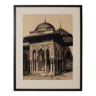 Reverse Drawing of Moorish Architecture by Cathy Wiggs For Sale
