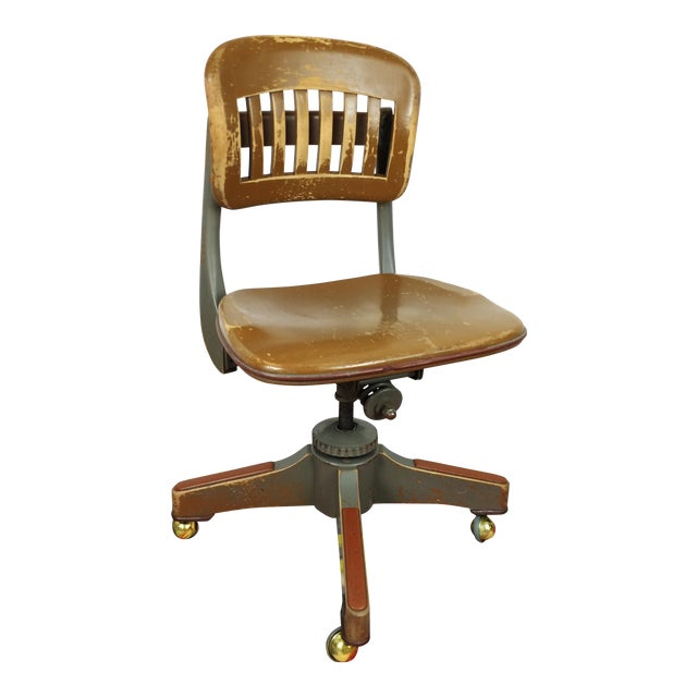 Antique Sikes Swivel Desk Office Chair