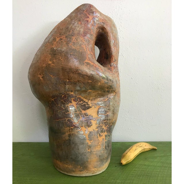 Ceramic Large Biomorphic Ceramic Sculpture Studio Pottery by Marylin Woods For Sale - Image 7 of 8