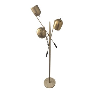 1950s Mid Century Modern Painted Brass Tree Lamp For Sale