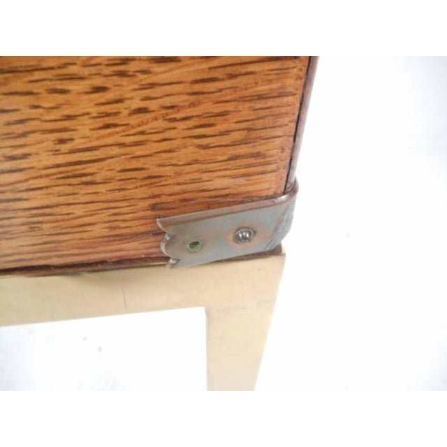 Mid-Century Modern Single Drawer Campaign Style Stand For Sale - Image 9 of 11