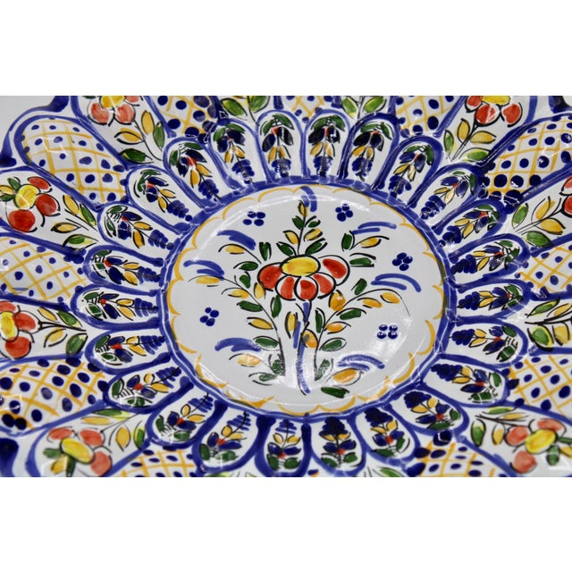 French Country French Country Ceramic Large Plate For Sale - Image 3 of 12