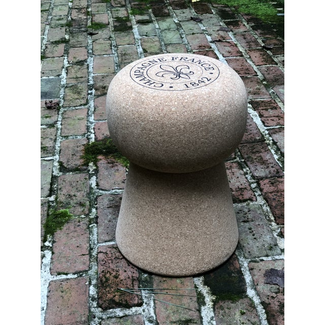 Champagne Cork Side Table For Sale In Atlanta - Image 6 of 10