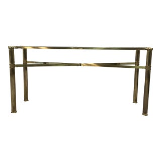 Modernist Brass Console Table