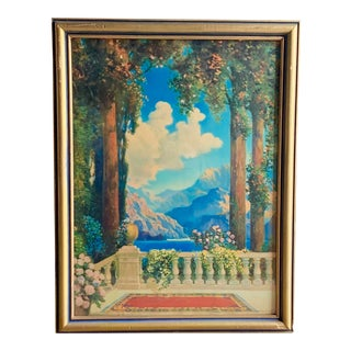 1900s Balcony View Romantic Framed Print For Sale