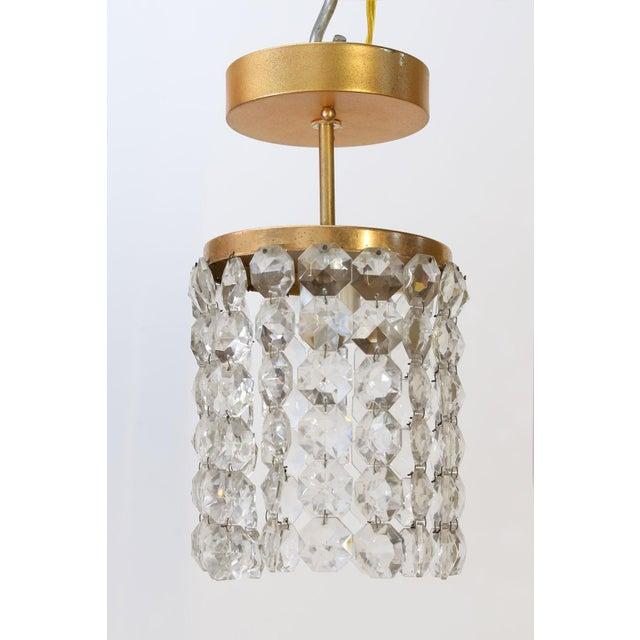 Austrian Single Light Flush Mount For Sale - Image 4 of 10
