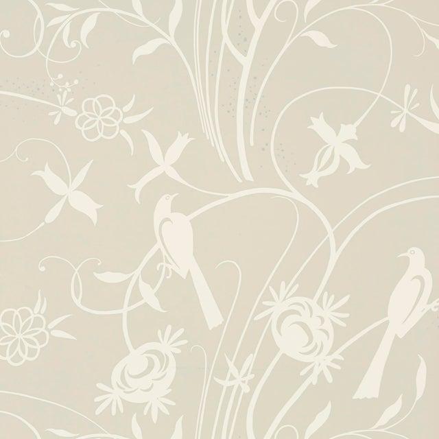 Schumacher Sky Meadow Wallpaper In Linen