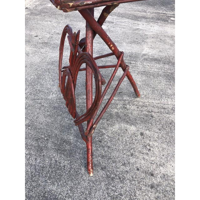 1920s Twig Rustic Adirondack End Side Table For Sale - Image 5 of 9