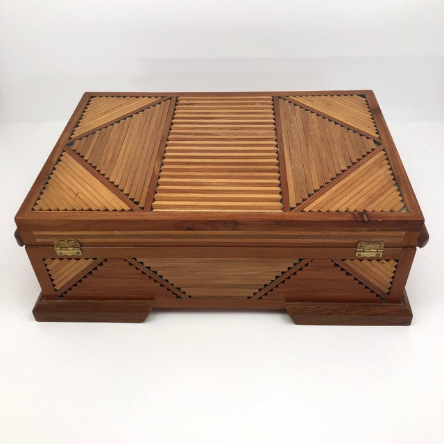 Mid-Century Tramp Art Jewelry Box For Sale - Image 10 of 13