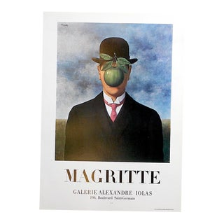 Vintage Poster Lithograph - Rene Magritte For Sale