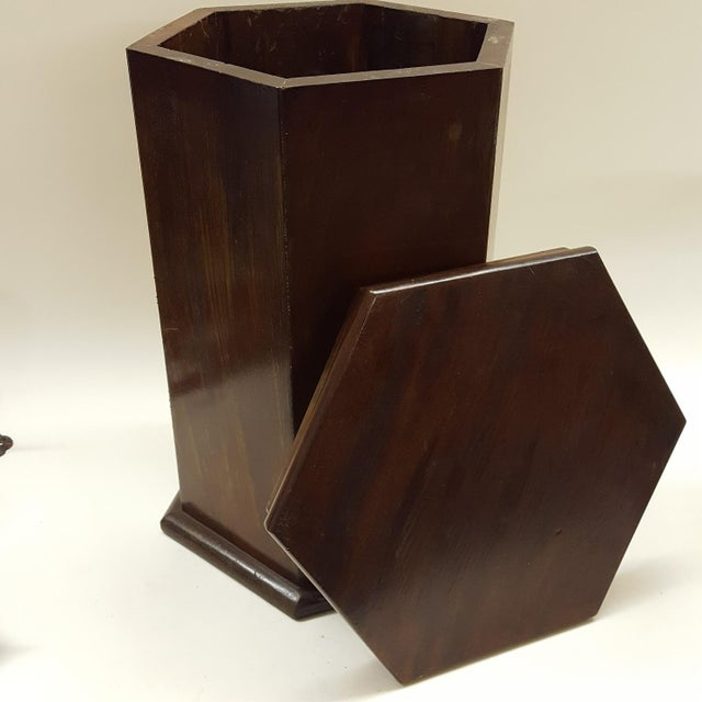 Traditional Late 19th Century Traditional Mahogany Hexagonal Side-Table For Sale - Image 3 of 5