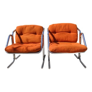 1970s Mid-Century Modern Jerry Johnson Arcadia Lounge Chairs - a Pair For Sale