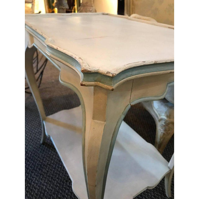 Distressed Paint Decorated Maison Jansen Side Tables or Night Tables - a Pair For Sale - Image 10 of 12