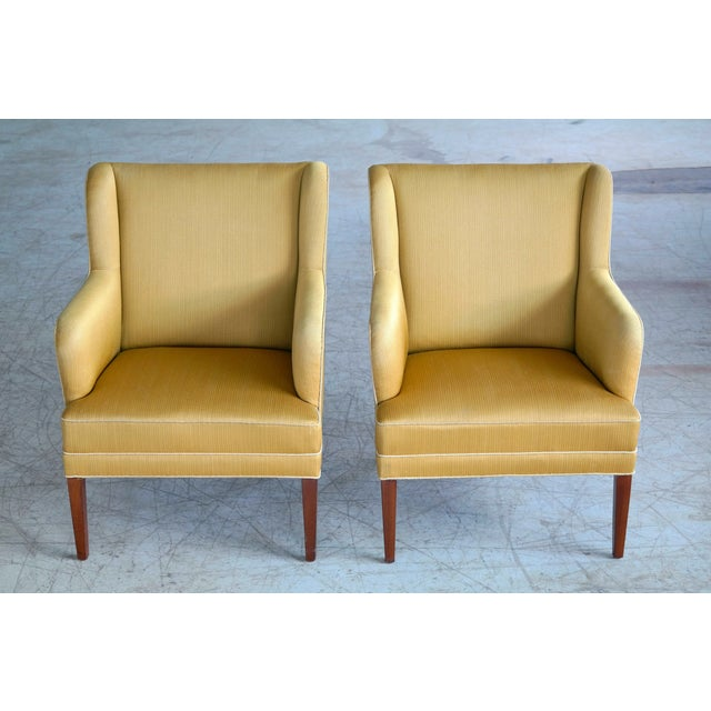Frits Henningsen Pair of Lounge Chairs Denmark, Circa 1950 For Sale - Image 11 of 13