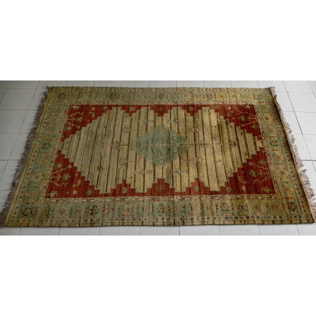 Gambrell Renard Kilim Rug Ottoman For Sale In Austin - Image 6 of 6