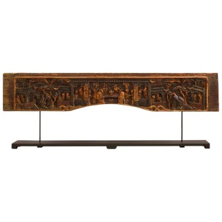 1920s Antique Chinese Wooden Temple Carving For Sale