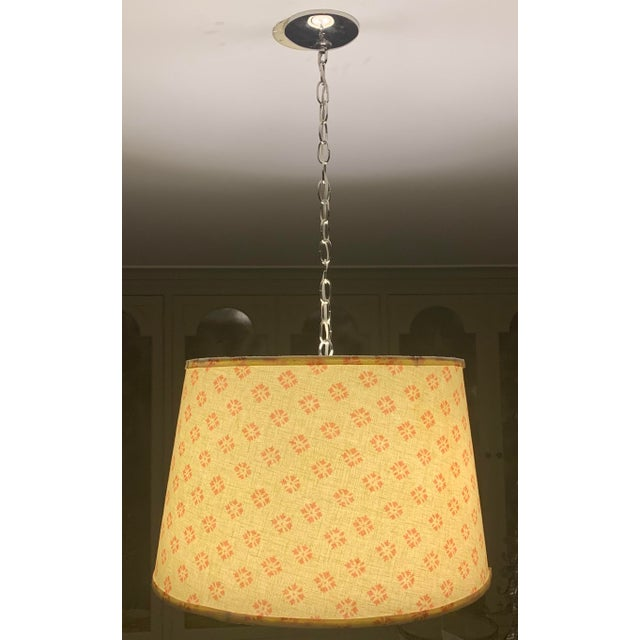 Linen Custom Kathryn Ireland Fabric Pendant Light For Sale - Image 8 of 10