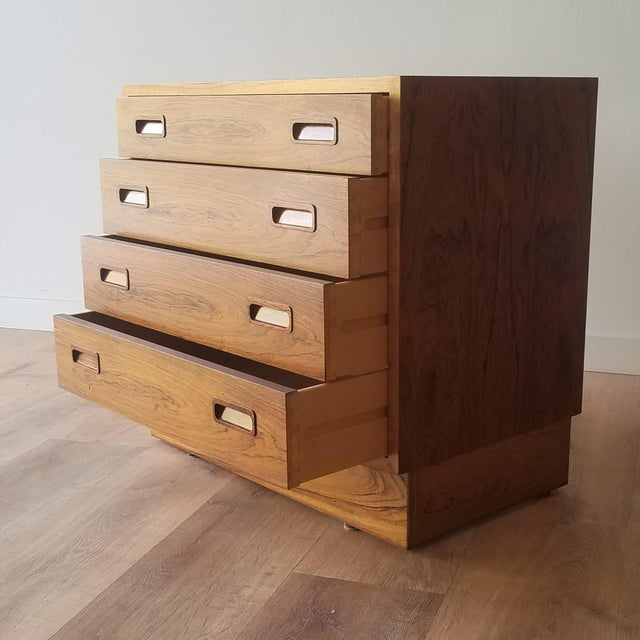 Poul Hundevad 1960s Poul Hundevad Rosewood Four Drawer Dresser For Sale - Image 4 of 13