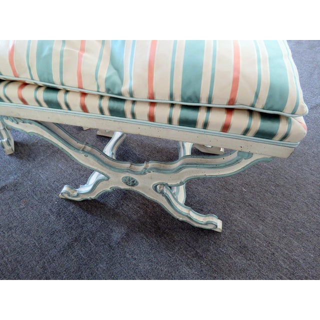 Pair of Swedish Paint Decorated X Benches For Sale In Philadelphia - Image 6 of 7