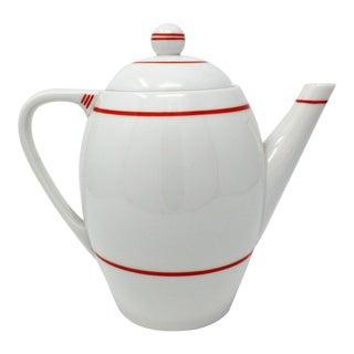 1930s Art Deco Haas & Czjzek Porcelain Teapot For Sale