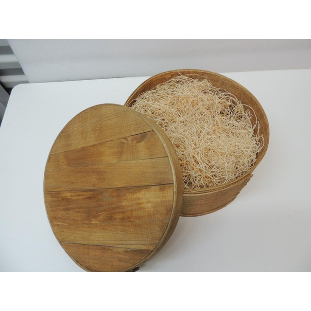 French Large Rustic and Primitive Round Cheese Box For Sale - Image 3 of 6