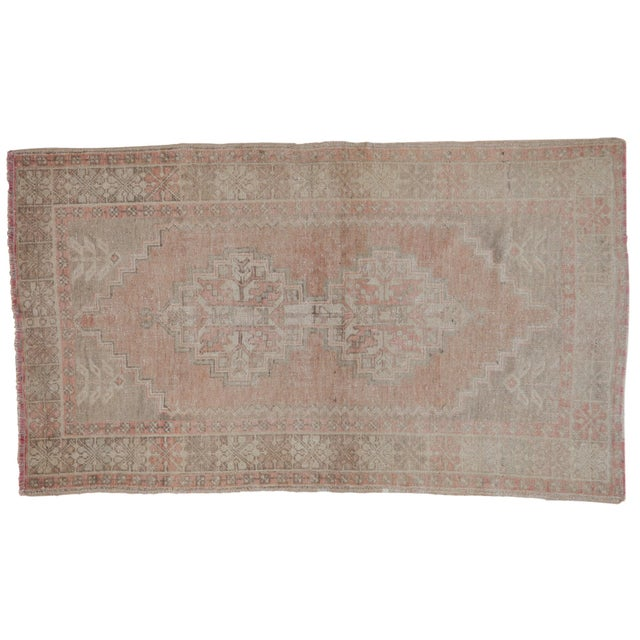"""Distressed Oushak Rug - 3'7"""" X 6'3"""" For Sale - Image 11 of 11"""