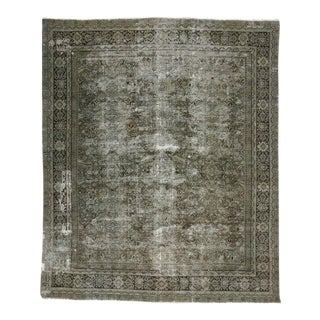 Distressed Antique Persian Mahal with Industrial Aesthetic