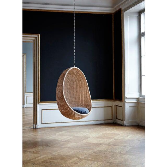 Nanna and Jørgen Ditzel Nanna Ditzel Hanging Egg Chair - Natural - Sunbrella Sailcloth Shade Cushion with 5 Foot Chain For Sale - Image 4 of 11