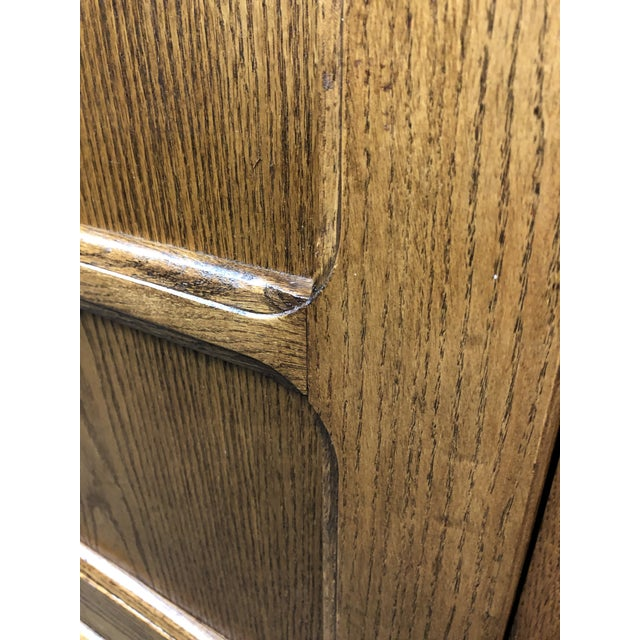 Converted Oak Armoire For Sale - Image 10 of 12