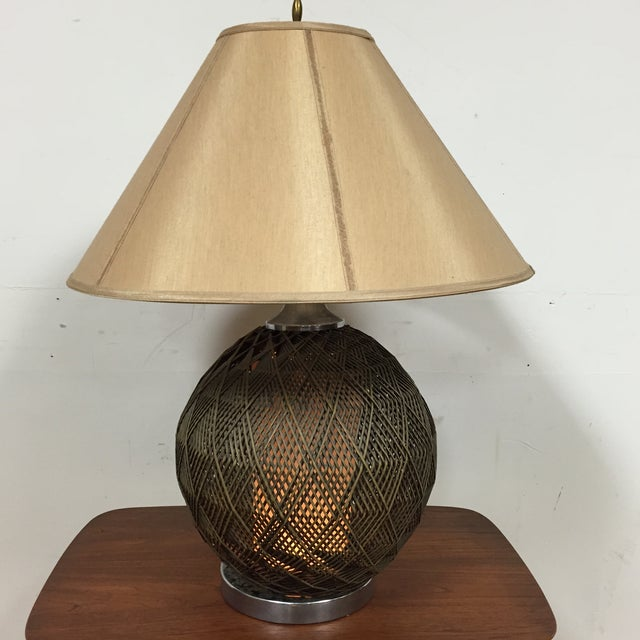 Optic Woven Cane Table Lamp - Image 5 of 11