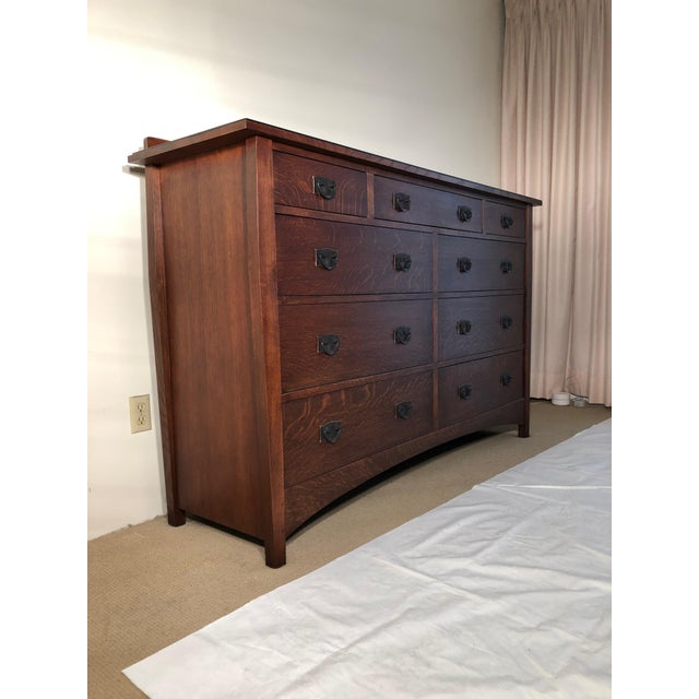 Arts & Crafts Mission Style Stickley Oak Chest of Drawers For Sale - Image 3 of 10